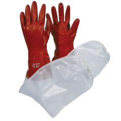 PVC-käsine hihasuojalla