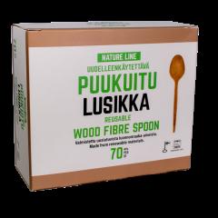 Puukuituruokalusikka Akvila Nature Line