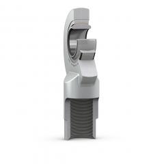 Nivelvarsi sisäkierteellä vasenkätinen teräs/PTFE sintrattu pronssi huoltovapaa SKF SIL-C