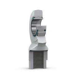 Nivelvarsi sisäkierteellä oikeakätinen teräs/PTFE huoltovapaa, hankaava tiiviste molemmin puolin SKF SI(SIA)-TXE